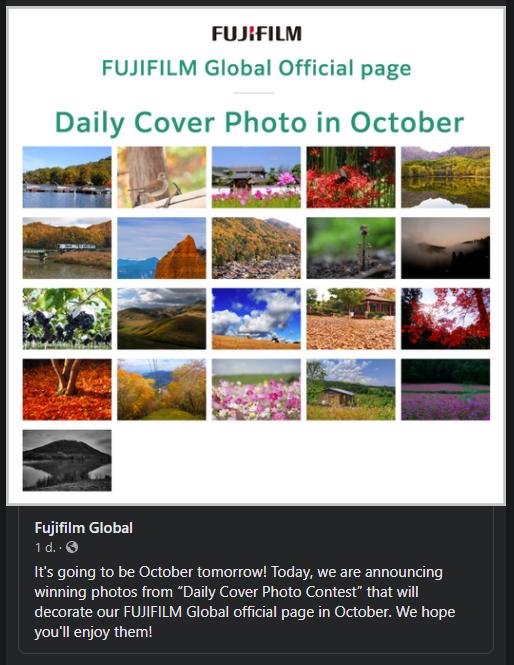 Fujifilm Daily Cover Photo Contest